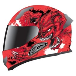 Primo C Slayer red helmet Zox