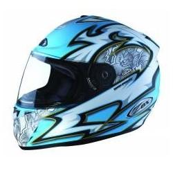 Corsa R wild flower baby blue Zox helmet
