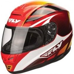 Fly Paradigm helmet red/yellow/white helmet