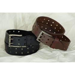 LEATHER BELT 2008-30/Black, 2008-26/Brown