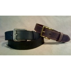 LEATHER BELT-106-T/Brown, 110-T/Black
