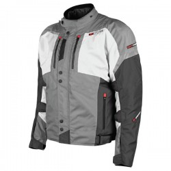 JOE ROCKET METEOR TEXTILE JKT GREY/WHITE