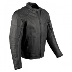 V-SPORT LEATHER JKT BLK SM