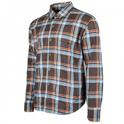 JOE ROCKET MISSION ARMOURED MOTO SHIRT - BROWN