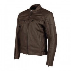 JOE ROCKET JRC RASP LEATHER JACKET - BROWN