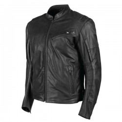 JOE ROCKET JRC POWER GLIDE LEATHER JACKET - BLACK