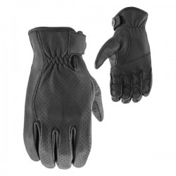 JOE ROCKET JRC 67 LEATHER PRFORATED GLOVES - BLACK