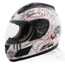 VEMON Red- White Zox Thunder R Helmet