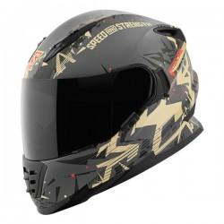 CRITICL MASS SS1600 fullface helmet Tan / Charcoal by Speed & strength
