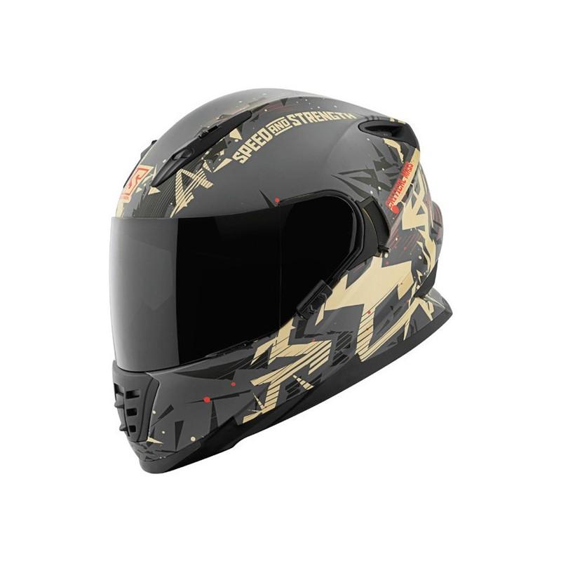 Speed and Strength Critical Mass SS1600 Full Face Helmet w// Drop Down Sun Shield