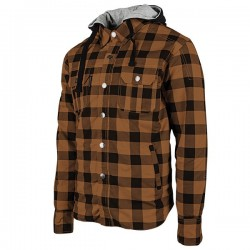 STANDARD SUPPLY™ REINFORCED Moto Shirt Brown