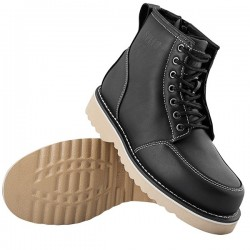 OVERHAUL™ LEATHER BOOTS BLACK - by Speed & Strength