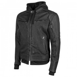Speed & Strength's - STRAIGHT SAVAGE™ Leather /Canvas JACKET BLACK