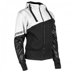 CAT OUT A HELL Armored Hoodie White /Black Speed & Strength