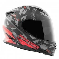STRAIGHT SAVAGE™ SS1600 Helmet Red /Black