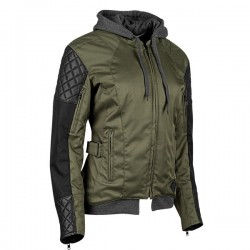DOUBLE TAKE Ladies Textile Jacket olive/black by Speed & strength