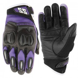 SPELLBOUND™ Leather / Mesh Gloves Purple by Speed & Strength