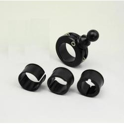 "Handle bar mount kit fits 7/8"" through 1 1/4"""