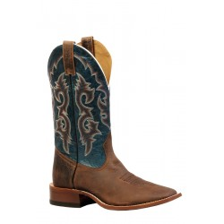 Boulet Mens Rugged Country Distressed Bison Volcano Wide square toe Boot- 0837