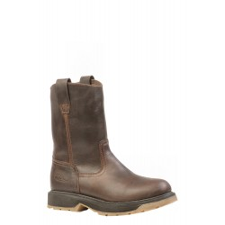 """Boulet's Rugged Country 8"""" Mens Crazy Choco Leather Round toe boot - 0700"""