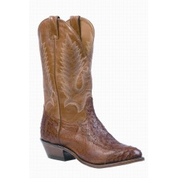 Boulet 4 Piece Smooth Brandy Ostrich Medium cowboy toe Boot 1514