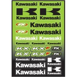 KAWASAKI MOTO STICKER SHEET