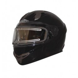 Helmet PRIMO S SVS Snow Solid Matte Black Double shield