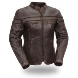 Women's Sporty Riding Jacket BROWN