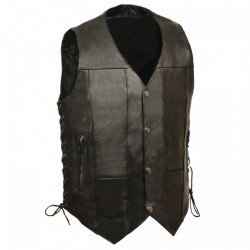 9 Pocket Vest Economy Leather