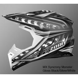 ZOAN MX SYNCHRONY MONSTER Helmet Gloss BLACK/SILVER/WHITE