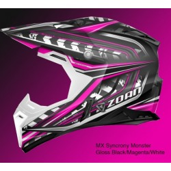 ZOAN MX SYNCHRONY MONSTER Helmet Gloss BLACK/S MAGENTA/WHITE