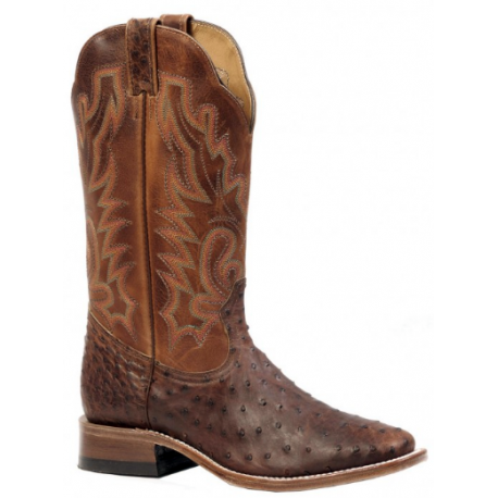 Boulet wide square toe Ostrich boot 3518
