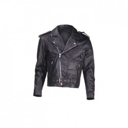Classic style Cruiser Jacket Economy Leather Black