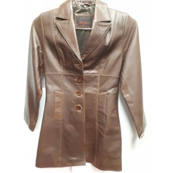 Ladies coniac buffalow long button front jacket