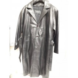 Men's Full Length soft leather coat.