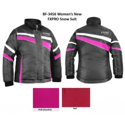 Womens Snow jacket black / pink
