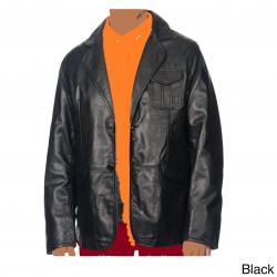 Leather Blazer soft leather black.