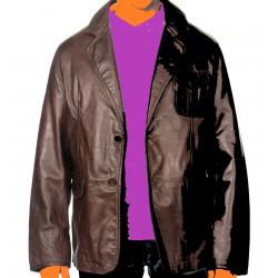 Blazer chestnut color leather