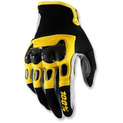 DERISTRICTED 100% DUAL SPORT GLOVE BLACK/YELLOW