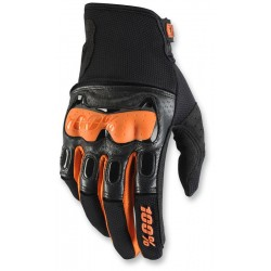 DERISTRICTED 100% DUAL SPORT GLOVE BLACK/ ORANGE