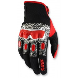 DERISTRICTED 100% DUAL SPORT GLOVE BLACK/ RED