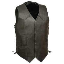SIDE LACE ECONOMY leather VEST