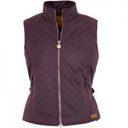 LADIES QUILTED VEST 2177- Purple