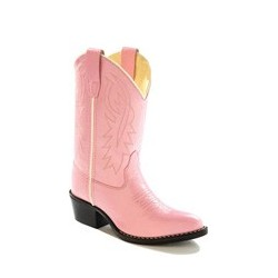 Old West 8119CH Childrens Pink Western Pointy Toe Boots