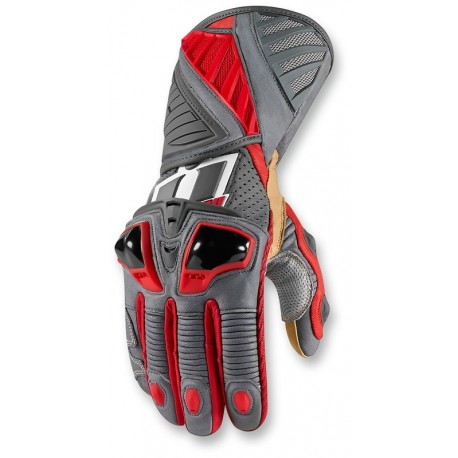 ICON -Hypersport Long Gloves RED