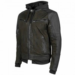 Speed & Strength's - STRAIGHT SAVAGE™ Leather /Canvas JACKET OLIVE / BLACK
