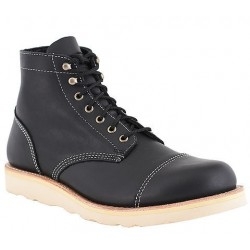 SECOND'S / Sub standard -Men's WM. Moorby footwear 2819 Black Loggertan - Unlined -
