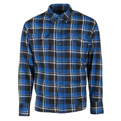 BLACK NINE™ MOTO SHIRT BLUE / BLACK - BY Speed & Strength