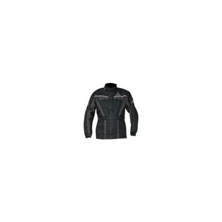 Spaartan mens textile jacket black/ grey oxford