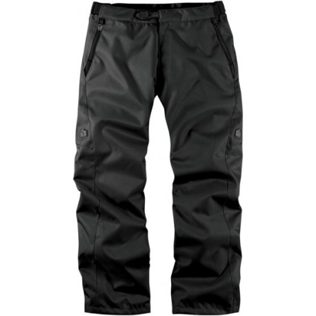 Icon Device Textile Motorcycle Overpants - Stealth Black